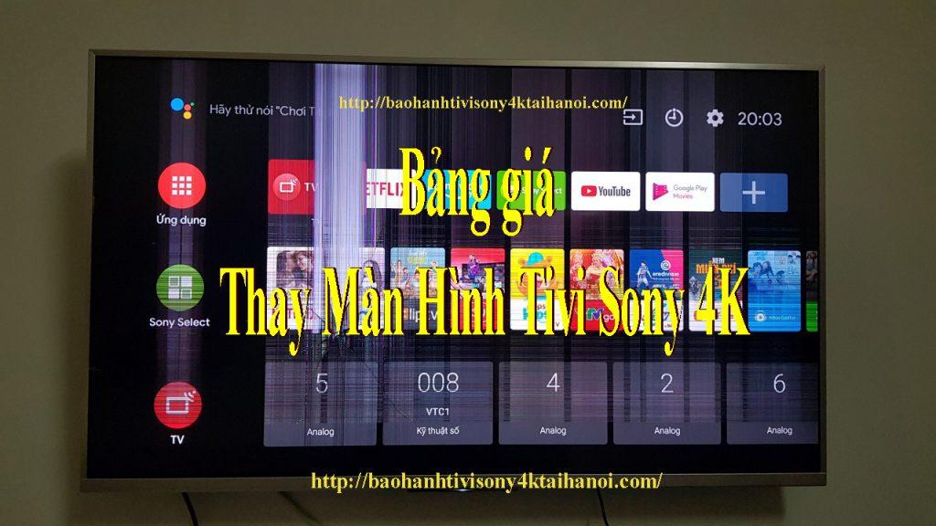 tahay màn hình tivi sony tại nhà